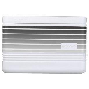 Modern Black & White Gradient Stripes Cooler