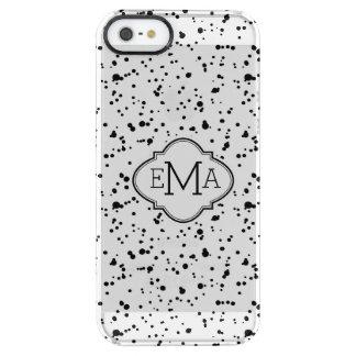 Modern Black & White Paint Splatter Pattern Clear iPhone SE/5/5s Case