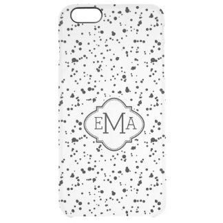 Modern Black & White Paint Splatter Pattern G2 Clear iPhone 6 Plus Case