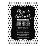 Modern Black & White Polka Dots Bridal Shower Custom Invite