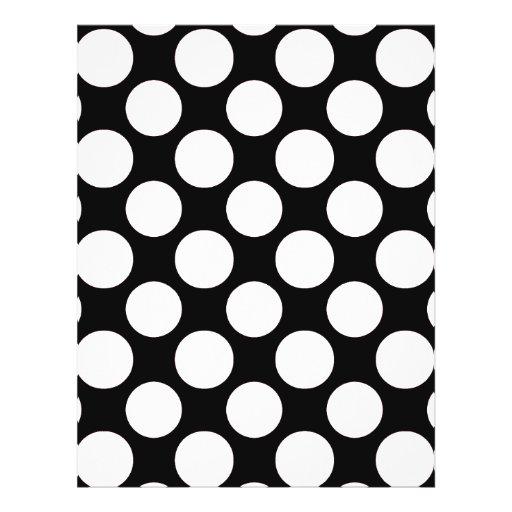 Modern Black White Polka Dots Pattern Flyers