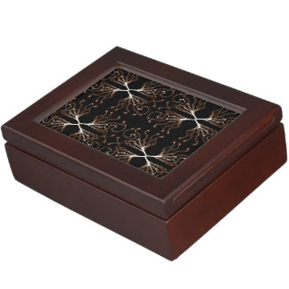 Modern Black & White, Sepia Pattern Memory Boxes