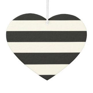 Modern Black White Stripes Pattern Car Air Freshener