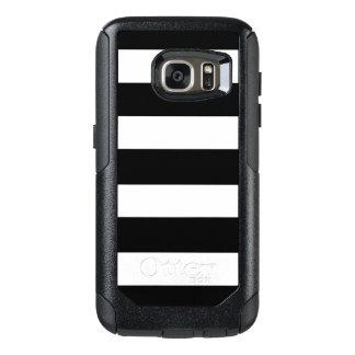 Modern Black White Stripes Pattern OtterBox Samsung Galaxy S7 Case