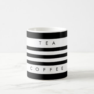 Modern Black & White Stripes Tea & Coffee Mug