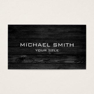 Modern Black Wood Business Card