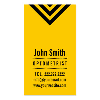 Modern Black & Yellow Optometrist Business Card