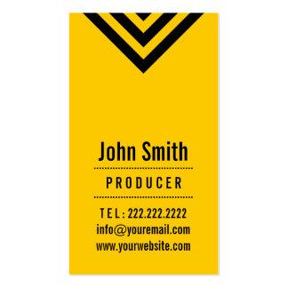 Modern Black & Yellow Producer Business Card