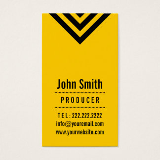 Modern Black & Yellow Producer Business Card
