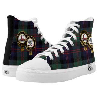 Modern Blair Plaid High Top Shoe with Crest