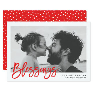 Modern Blessings | Holiday Photo Card