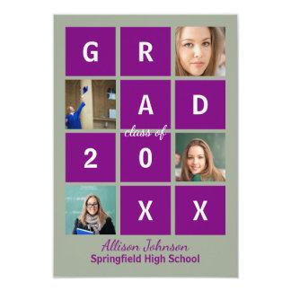 Modern Block Letters & Photo - 3X5 Grad Card