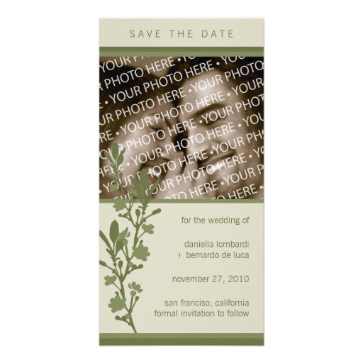 Modern Blossom Save The Date Photo Card