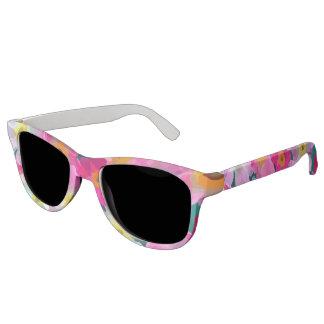 Modern Blossoms - Pink Magenta Yellow White Flower Sunglasses