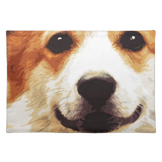 modern blown Welsh Corgi Placemat
