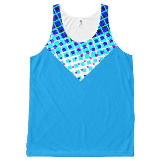 Modern Blue Abstract by Bubbleblue All-Over Print Tank Top