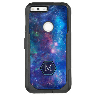 Modern Blue Abstract Deep Space & Sparkles OtterBox Commuter Google Pixel XL Case