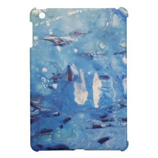 Modern Blue Abstract Design iPad Mini Cases