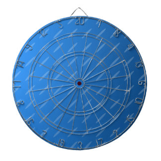 Modern Blue Abstract. Thin Ovals Pattern. Dartboard