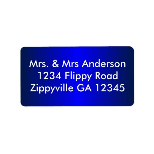 Modern Blue Address Label