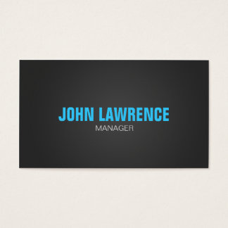 Modern Blue and Dark Gray Business Card