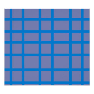 Modern blue and purple grid pattern poster