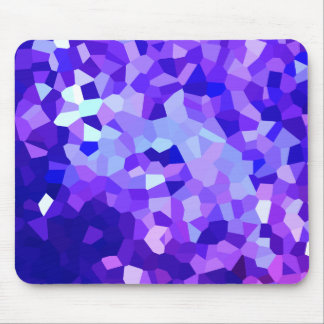 Modern Blue and Purple Stained Glass Mosaic Mouse Pad