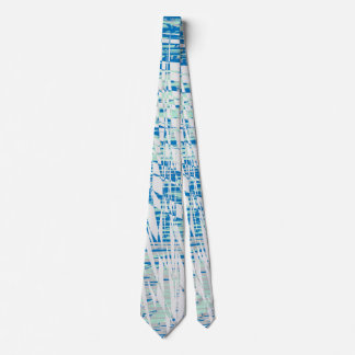 Modern Blue and White Abstract Design Tie