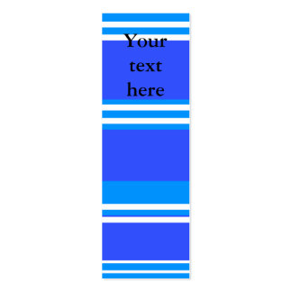 Modern blue and white stripes business card templates