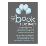 Modern Blue Balloon Baby Shower Book Insert Card Pack Of Chubby Business Cards