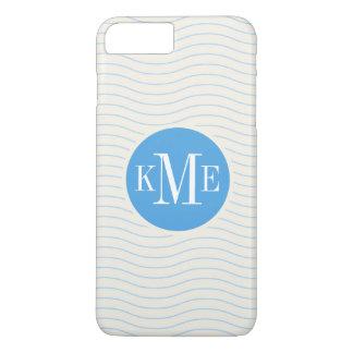 Modern Blue Chevron Pattern iPhone 8 Plus/7 Plus Case