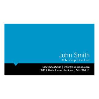 Modern Blue Chiropractor Business Card