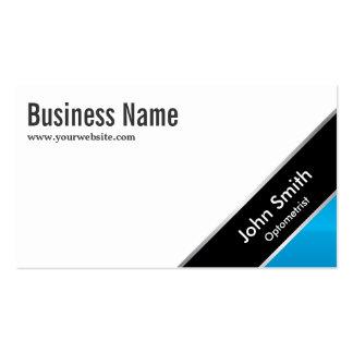 Modern Blue Corner Optometrist Business Card