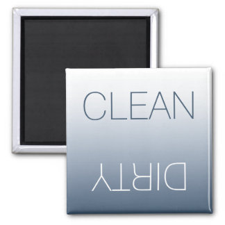 Modern Blue-Gray Clean or Dirty Dishwasher Magnet