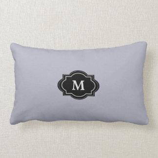 Modern Blue Gray Monogram stylish Throw Pillow