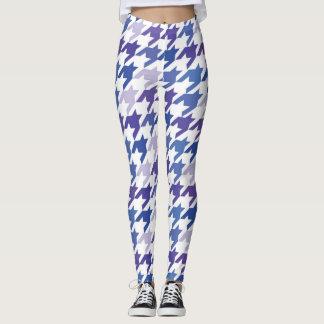 Modern blue Houndstooth Pattern. Leggings