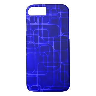 Modern Blue Laser Art iPhone 7 Case
