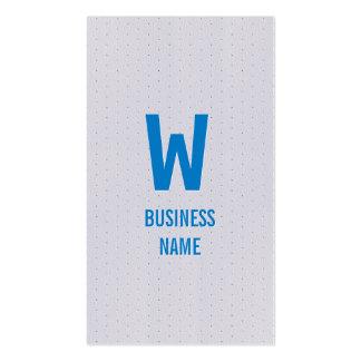 Modern Blue Monogram Optometrist Business Card