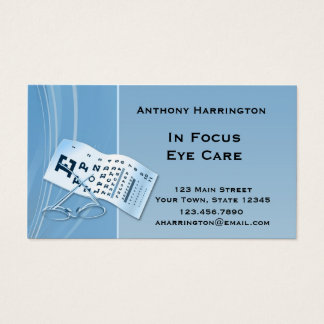 Modern Blue Optometrist Business Card