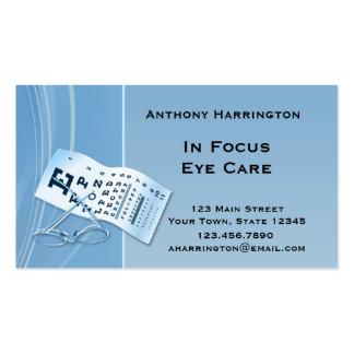 Modern Blue Optometrist Business Card Templates