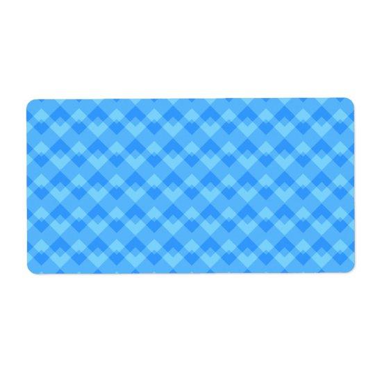 Modern Blue Pattern. Shipping Label