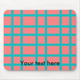 Modern blue patterned grid design mouse pad