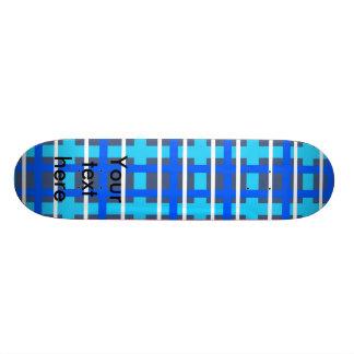 Modern blue pink plaid skate decks