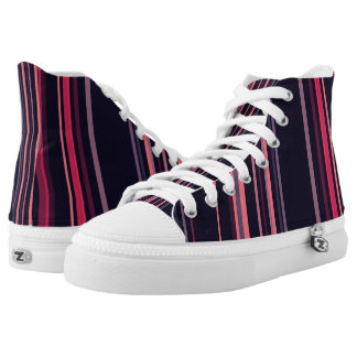 Modern Blue Pink Stripes Vitas Sneakers Top Shoes