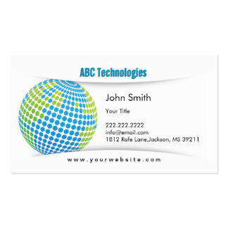 Modern Blue Planet Technoloy Business Card