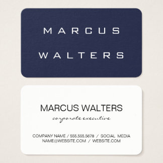 Modern Blue White Business Card