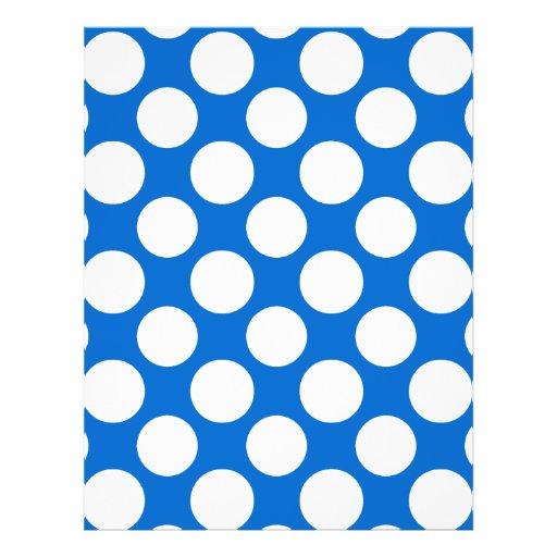 Modern Blue White Polka Dots Pattern Flyer Design