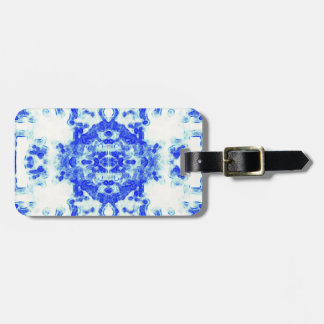 Modern Blue Willow Luggage Tag
