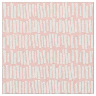 Modern Blush Pink and White Line Pattern Fabric