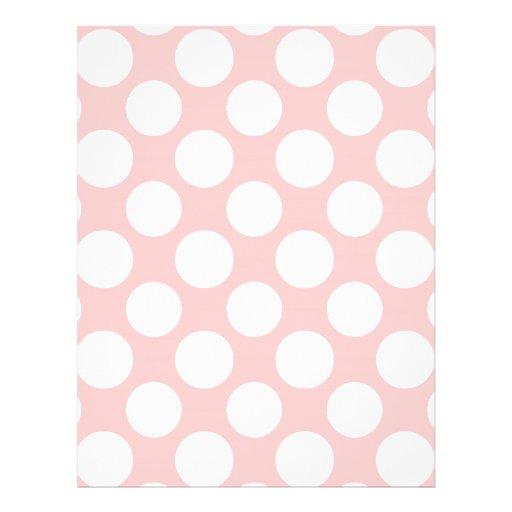 Modern Blush Pink White Polka Dots Pattern Full Color Flyer